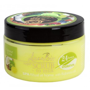 LINEA BIO SPA body scrub with coconut, lime and babassu oil 350g