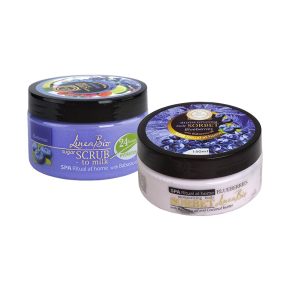 LINEA BIO body scrub and sorbet with blueberries and babassu oil