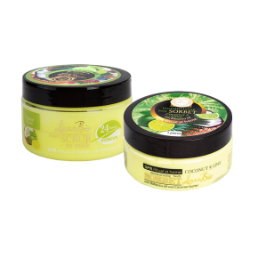 LINEA BIO body scrub and sorbet with lime, cocos and babassu oil