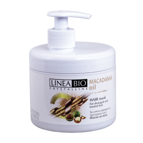 Linea Bio Crystalline Подхранваща маска за коса с масло от Макадамия 500мл